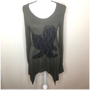 Romeo and Juliet couture long sleeve blouse.